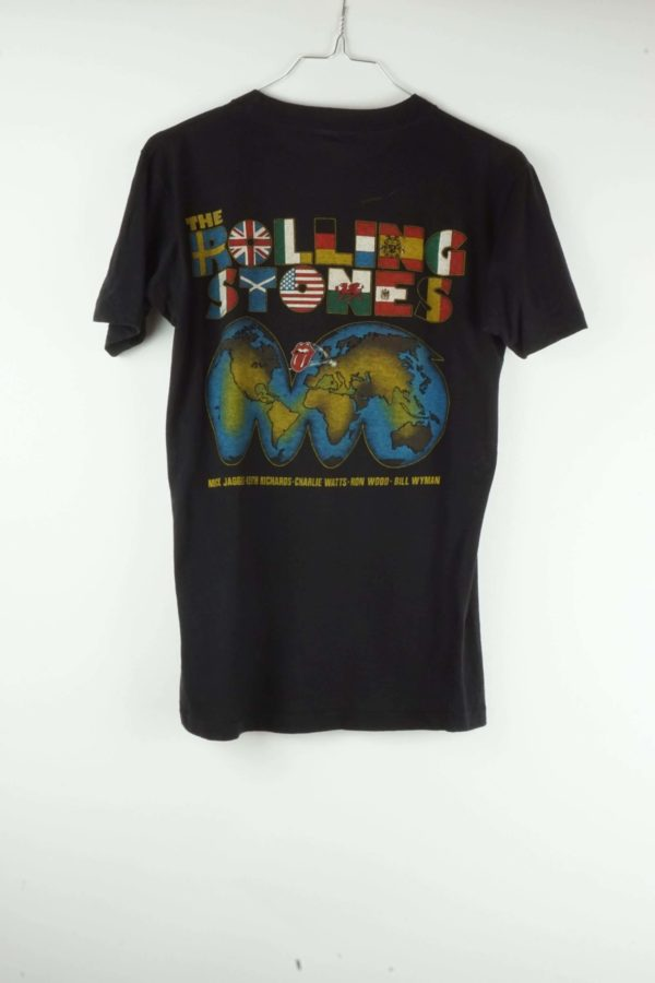 Vintage Bandshirt Original The Rolling Stones World Tour T-Shirt von 1982 back