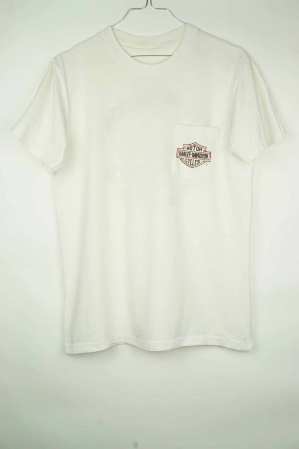 Original 1980s Harley Davidson Phil Petersons Miami Vintage T-Shirt