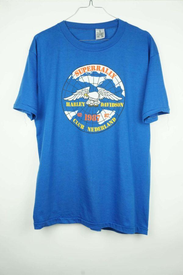 1987 Harley Davidson Super Rally Club Nederland Vintage T-Shirt