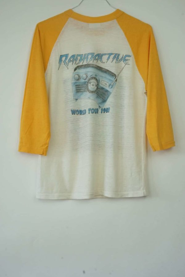 1981 Pat Travers Radioactive World Tour Vintage T-Shirt back