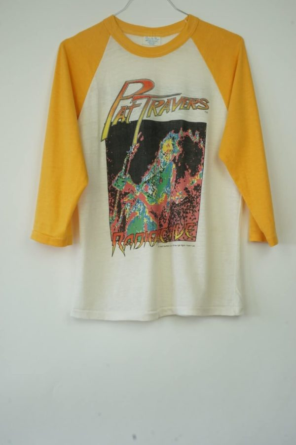 1981 Pat Travers Radioactive World Tour Vintage T-Shirt front