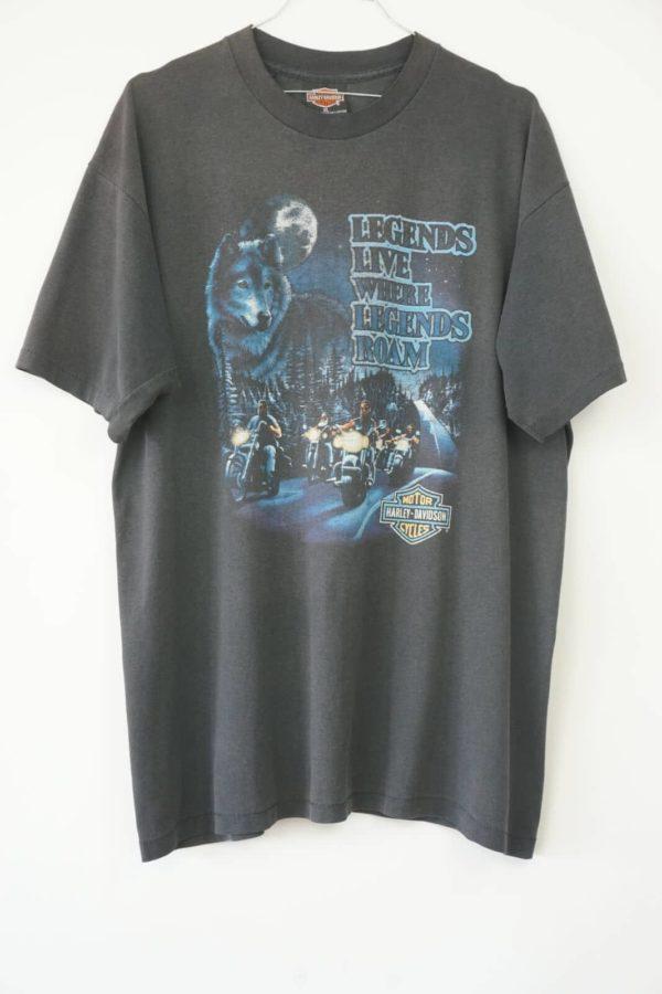 1990s Harley Davidson Legends Live where Legends Roam Vintage T-Shirt front