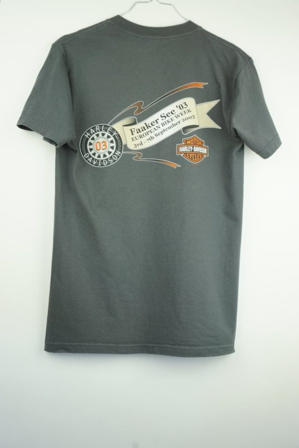 2003 Harley Davidson European Bike Week Lightning Bolt Vintage T-Shirt