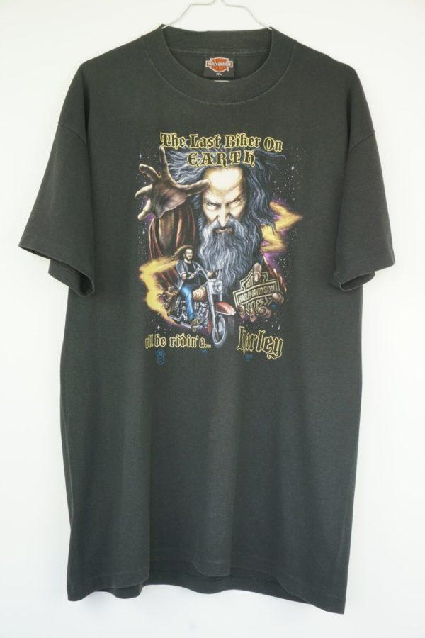 1988-Harley-Davidson-3D-Emblem-The-Last-Biker-On-Earth-Vintage-T-Shirt