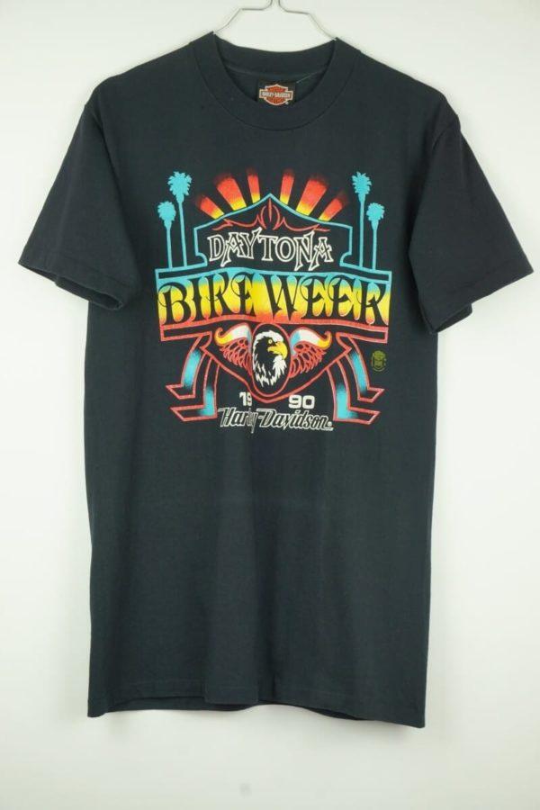 Original 1990 Harley Davidson Daytona Bikeweek Florida Vintage T-Shirt.