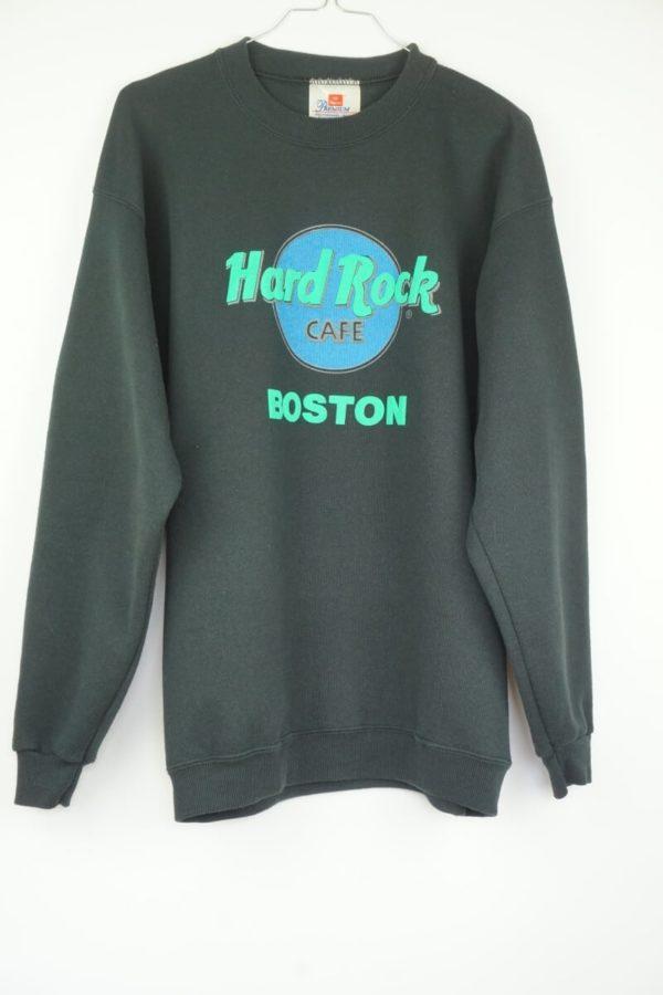 Original 1990s Hard Rock Cafe Puffy Ink Boston Vintage Sweatshirt.