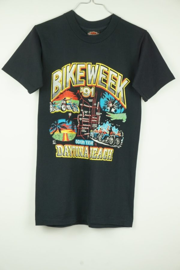 Original 1991 Harley Davidson Bikeweek Daytona Beach Vintage T-Shirt.