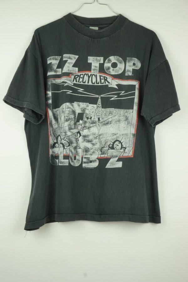 Original 1991 ZZ Top Recycler Club Z World Tour Vintage T-Shirt.