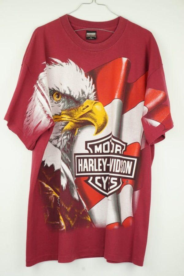 Original 1996 Harley Davidson Eagle All Over Vintage T-Shirt.