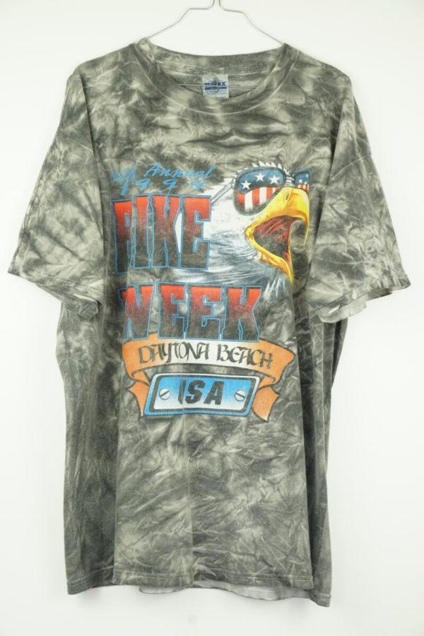 Original 1999 Daytona Bikeweek Eagle Tie Dye Vintage T-Shirt.