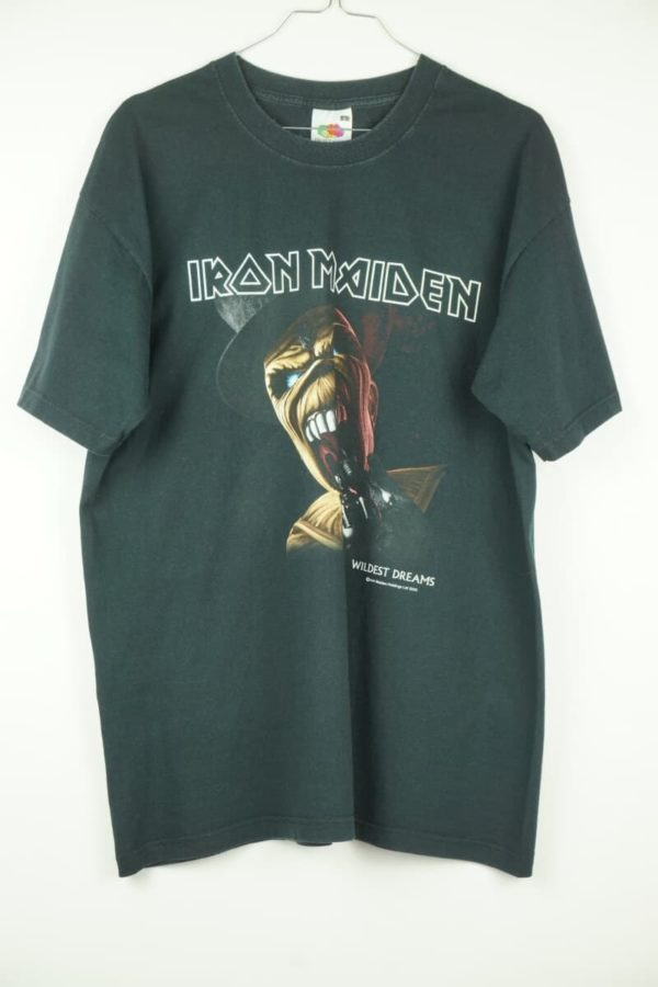 Original 2003 Iron Maiden Wildest Dreams Dance of Death Eddy Vintage T-Shirt.