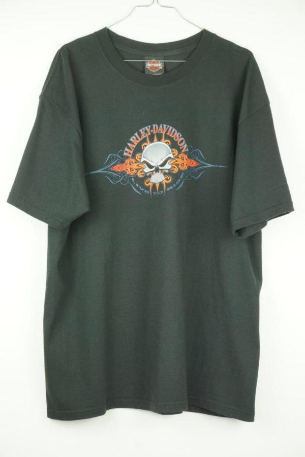 Original 2006 Harley Davidson Skull Live to Ride Kamen Germany Vintage T-shirt.