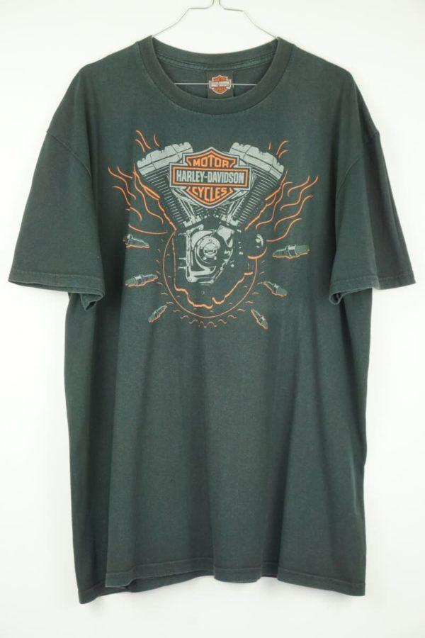 Original 2010 Harley Davidson Engine Bruchmühlbach Germany Vintage T-shirt