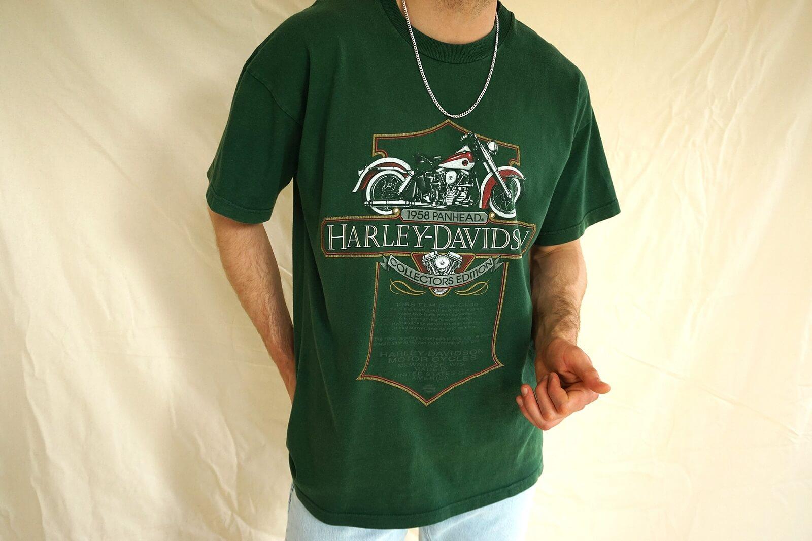 Oversized Vintage Shirt Harley Davidson T-Shirt von Papa Vintage Online Shop