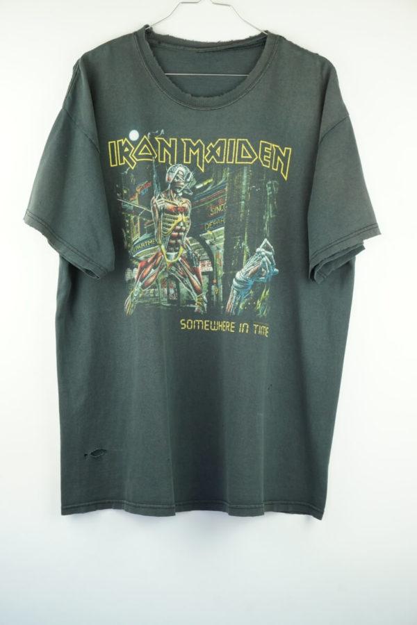 Original 1986/87 Iron Maiden Somewhere in Time Tour Vintage T-Shirt