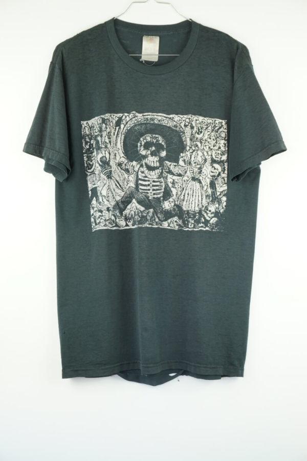 Original 1990s Día de Muertos Mexican Skull Vintage T-Shirt