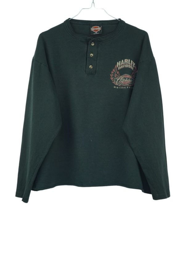1995-harley-davidson-the-classic-of-motorcycles-san-francisco-half-button-vintage-longsleeve