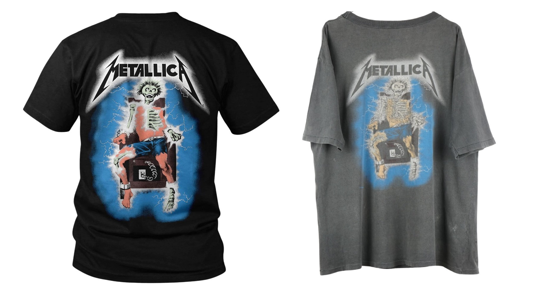 Vergleich_Metallica Reprint (links) mit der originalen Version von 1986 (rechts)